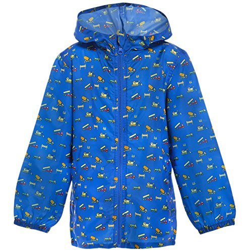 Children Boys Girls Rain Outdoorraincoat Festival Showerproof Rain Coat Fishtail Festival Parka Hooded Lightweight Shower Proof Jacket