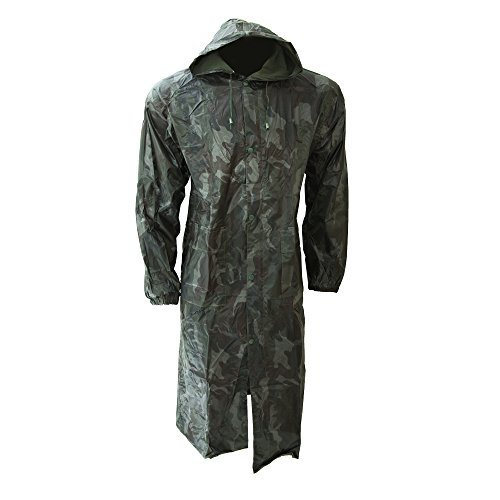 Men Waterproof Hooded Lightweight Long Outdoor Rain Coat
