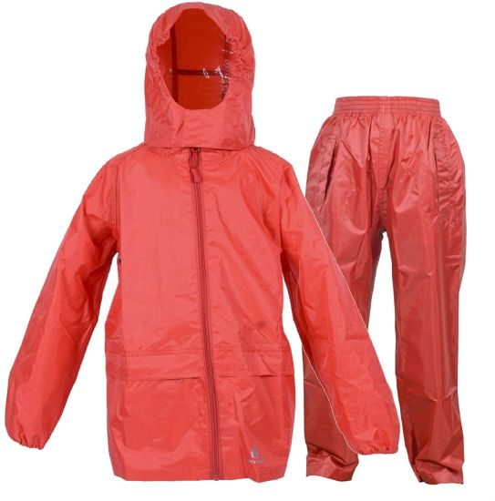 Kids Waterproof Suit - Comprising of Waterproof Packaway Jacket and Waterproof Over Trousers