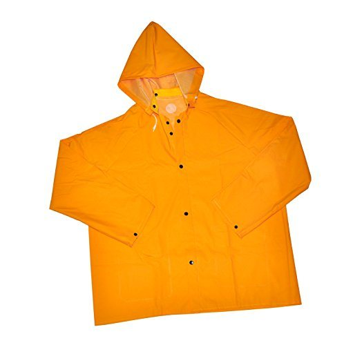 PVC Polyester Raincoat Outdoor Sports Clothing with Hood