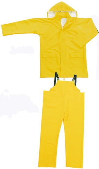 Custom Functional PVC/Polyester Waterproof Rainsuit with Hooded