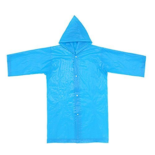 Children Raincoat Jacket for 6-12 Years Old 1PC Waterproof Rainsuit Boys Girls Portable Reusable Rain Ponchos Unisex Raincoats All in One Outerwear Multicoloure