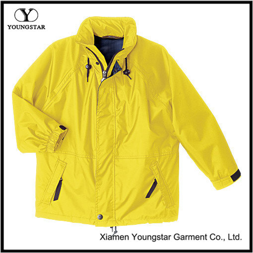 XXL Yellow Rain Waterproof Jacket for Cycling