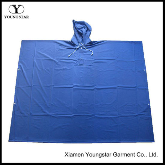 Promotional PVC Adult Square Rain Poncho / Rain Cape