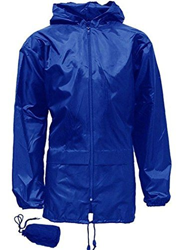 Kids Boys Girls Kagool Showerproof Rain Coat Jacket Mac Cagoule Kagoul Ages 4-16