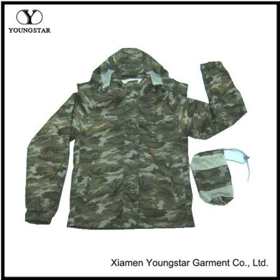 Mens Waterproof Army 3 in 1 Jackets with Fleece Lining&Pouch