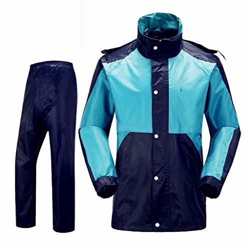 Raincoats Waterproof Clothing Men Cycling Rainwear (Jacket & Trouser Suit) for Outdoor Motorbike Camping Travel PVC