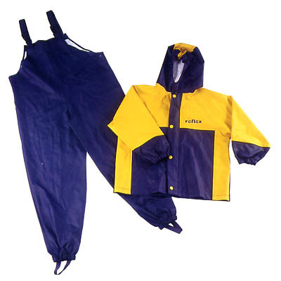 Waterproof Bibs Rain Pants Kids Rain Jackets Coats Suit