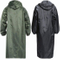 Men Long Army Green Rain Coat Waterproof Adult Poncho Single Raincoat for Hiking at Outdoor