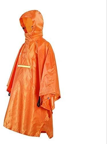 Rain Cape Waterproof Rain Coat Multi Function Raincoat Fits Male and Female Tent Ground Sheet Mat for Hiking