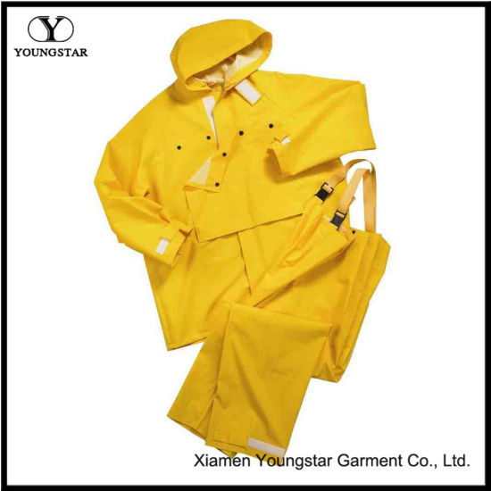 20mm Fishing Two Piece Yellow Rain Suit