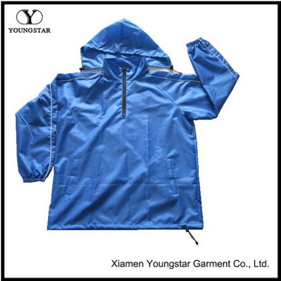 Men′s Windbreaker Jacket / Windproof Sports Jacket with Hood