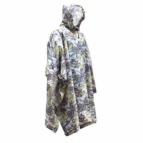Raincoat Camouflage Rain Cover Poncho Outdoor Hiking Riding Camping Tent Mat Adult Multifunctional Lightweight Waterproof Pad with Cap Raincoat