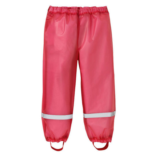 Children′s Rain Pants Boys and Girls Kindergarten Baby Waterproof Rain Pants, Children′s Raincoat Waterproof Pants Suit Split