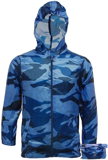 Lightweight Raincoat Camo Jacket Kagool Cagoule - Kagoul Camouflage - Hooded Cag in a Bag