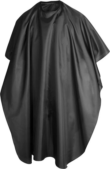 Black Full Length Cape Waterproof Unisex Professional Barbers/Hairdressers Gown for Hair Styling, Cuts and Colours Rain Coat