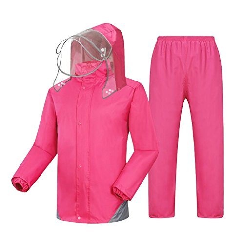 Raincoat Waterproof Jacket Raincoat Windproof Rain Pants Suit Work Camping Fishing Mountaineering Hiking Lightweight Sport Coats Trousers Suit Male and Female
