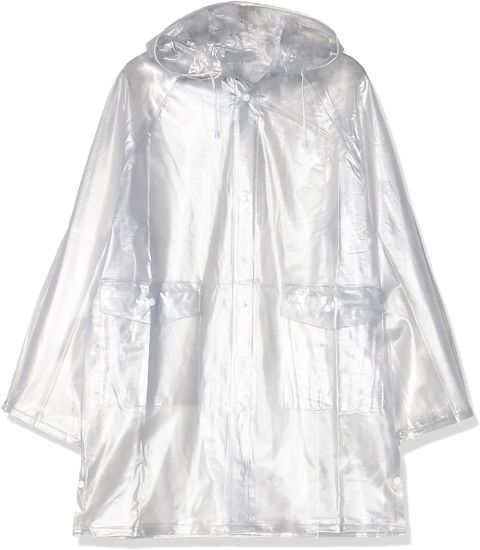 Kids Equestrian Transparent Long Poncho Windproof Waterproof Hood Rain Mac