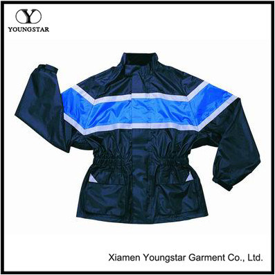 Waterproof Breathable Motorcycle Rain Jacket High Visibility motorcycle Rain Gear