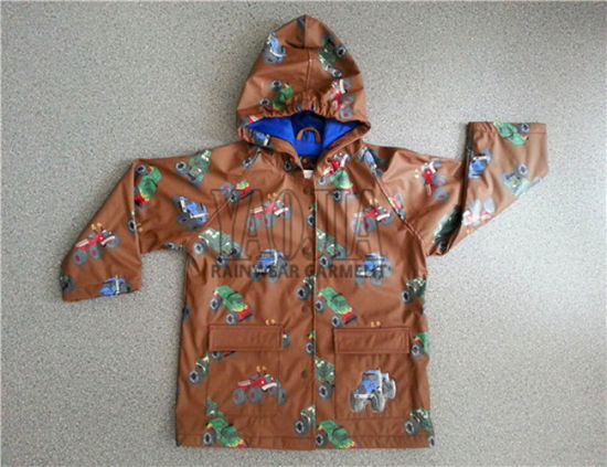 Fashion Waterproof Children Rain Jacket for Daily Use