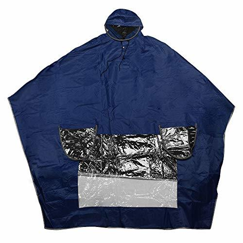 Waterproof Rain Jacket PVC Waterproof Hooded Rain Coat Durable Electric Vehicle Motorcycle Poncho Thicken Adult Raincoat with Hat for Electric Bicycle