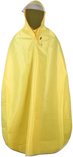 Poncho Waterproof Raincoat Bike Rain Cape Yellow