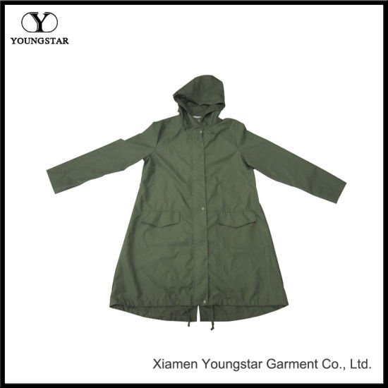 Dark Green Long Raincoat with Hot Sale Products