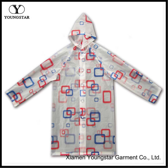 Children Raincoat Fashion Design Waterproof PVC Kids Rain Coat