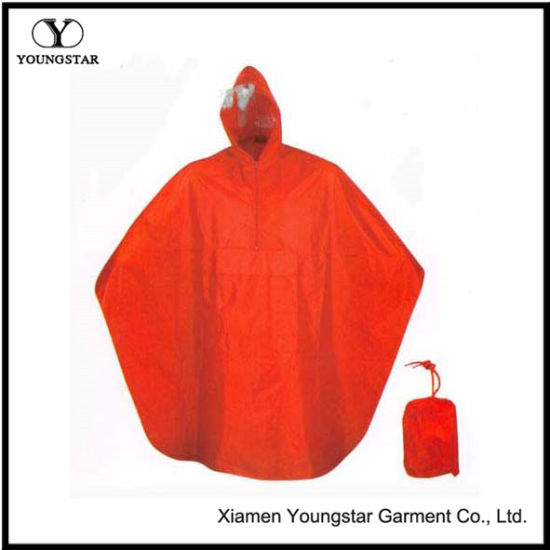 Promotional Waterproof PVC Rain Poncho for Motorcycle