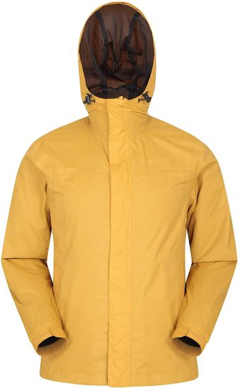 T Mens Waterproof Rain Jacket - Waterproof Raincoat, Lightweight Coat, Taped Seams, Zipped Pockets Casual Cagoule Jacket - for Travelling