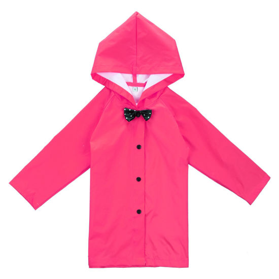 Fashionable Children′s Lightweight Raincoat Poncho Men and Women Cute Princess Bowknot Student Child Baby Raincoat 3-6 Years Old