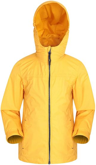Mountain Warehouse Torrent Kids Waterproof Rain Jacket - Taped Seams Raincoat, Lightweight, Breathable, Girls & Boys Rainwear -Ideal for Travelling, Wet Weather